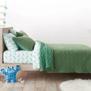 Green Vintage Wash Jersey Quilt